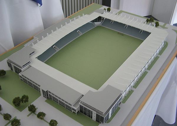 Model weiterer Ausbau Sportpark - Bildrechte: Stefan Seitz