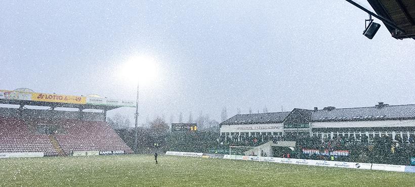 Schneetreiben im Sportpark